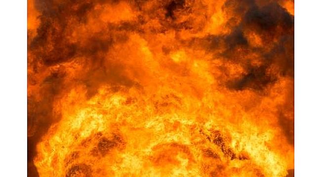 Elazığ 'da klima patlaması