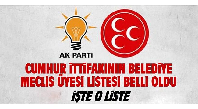 BELEDİYE MECLİS ÜYELERİ BELLİ OLDU