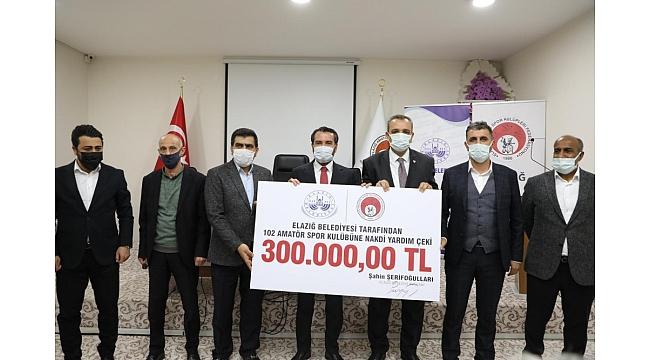 Elazığ Belediyesi'nden amatör kulüplere destek
